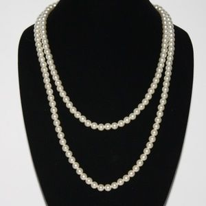 "Beautiful 50"" long pearl necklace VINTAGE"